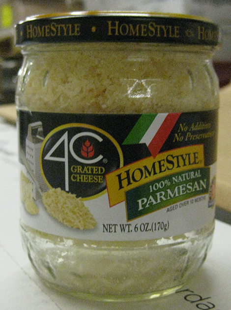 Label, 4C Grated Cheese, 100 percent Natural Parmesan, 6 oz.