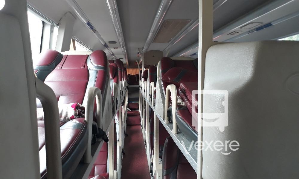 Nội thất xe Long Vân đi Kon Tum từ Sài Gòn