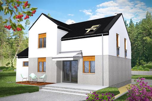 projekt Remek II z garażem 1-st. A