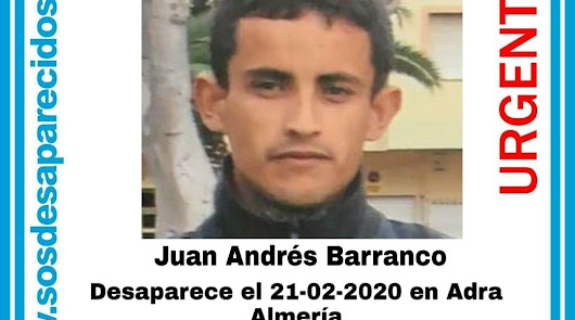 Cartel distribuido con la imagen de Juan Andrés Barranco.