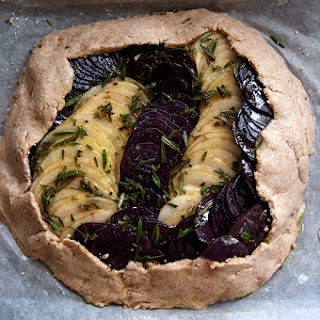 Potato and Onion Galette with Rosemary and Pine Nuts Recipe
