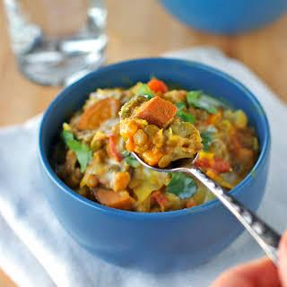 Creamy Thai Sweet Potatoes and Lentils.