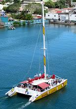 Photo: Antigua...party catamaran