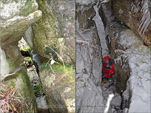 Photo: Seasonal comparison at the crevice on the Skinny.