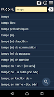 Screenshot of French Dutch Dictionary