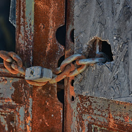 Locked Up 2 by Lorraine D.  Heaney - Artistic Objects Industrial Objects
