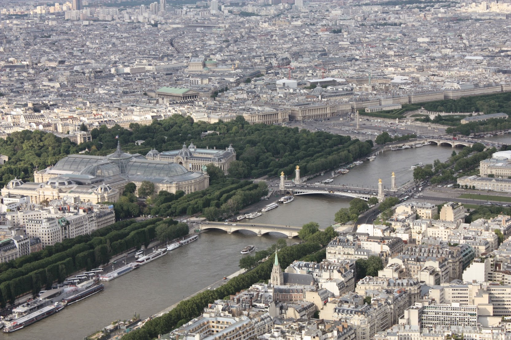 Fantastic views of the Seine from the Eiffel tower