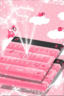 Pink Cloud Keyboard Theme - náhled