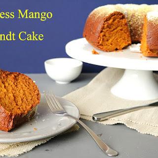 Eggless mango Bundt Cake.