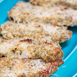 Low Carb Parmesan Dijon Pork Chops.