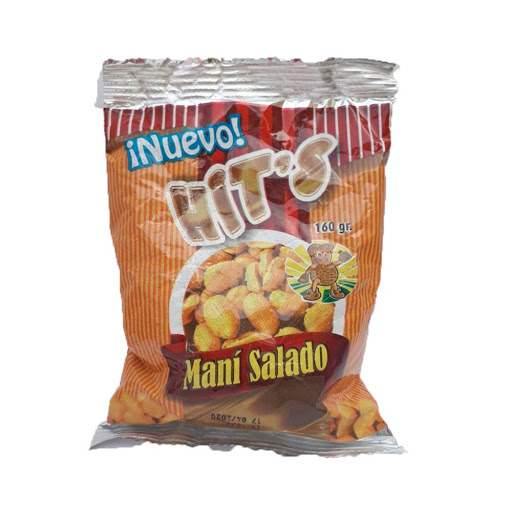 snack hits mani salado 160gr