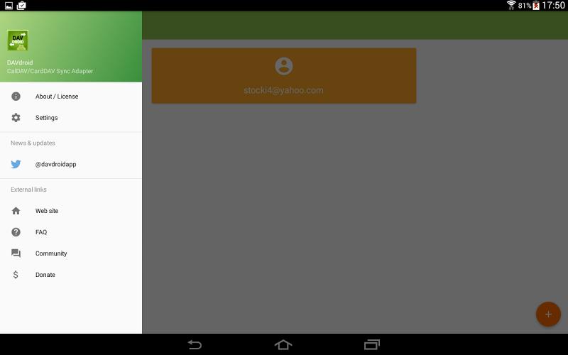 DAVdroid – CalDAV/CardDAV Synchronization Screenshot 9