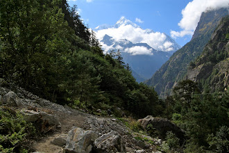 Photo: Looking out at Annapurna II