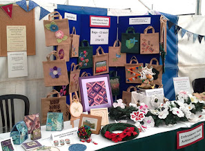 Photo: Work of members at the Ashbourne Show and for the National Day of Stitch