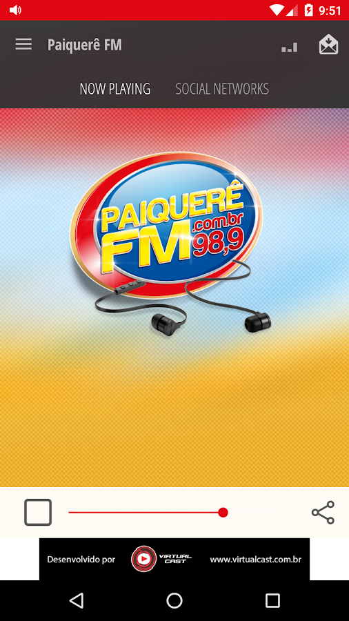 Paiquerê FM- screenshot