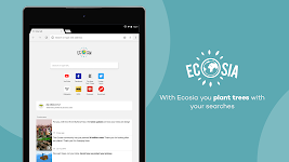 screenshot of Ecosia - Trees & Privacy