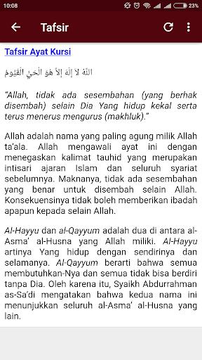 Download Ayat Kursi Teks Arab Terjemah Tafsir Mp3 Offline Apk