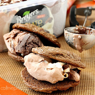 Double Chocolate Breyer's Gelato Sandwich Cookies