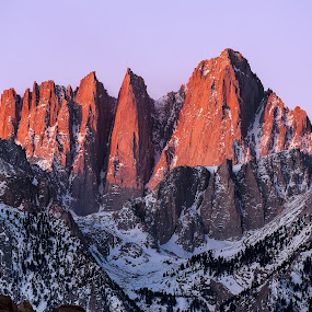 by Evver Gonzalez - Landscapes Mountains & Hills ( mountain, alpenglow, mount whitney )