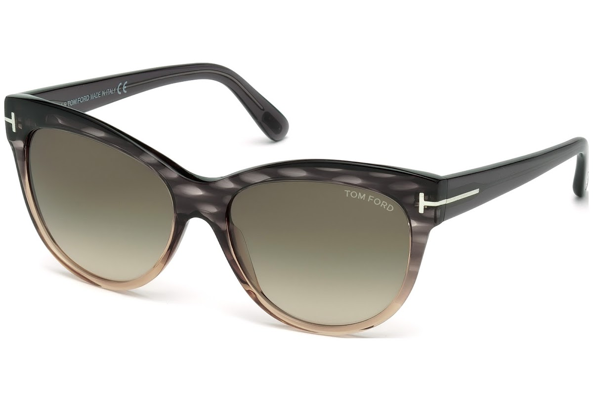 29ca6ef1a2 Buy Tom Ford Lily FT0430 C56 20P (grey other   gradient green) Sunglasses