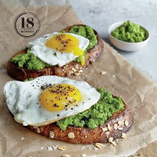 Weight Watchers Mustard Green Pesto And Egg Open-Faced Sandwiches
