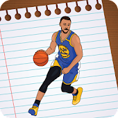 Football Ronaldo & Basketball LeBron Stars Drawing
