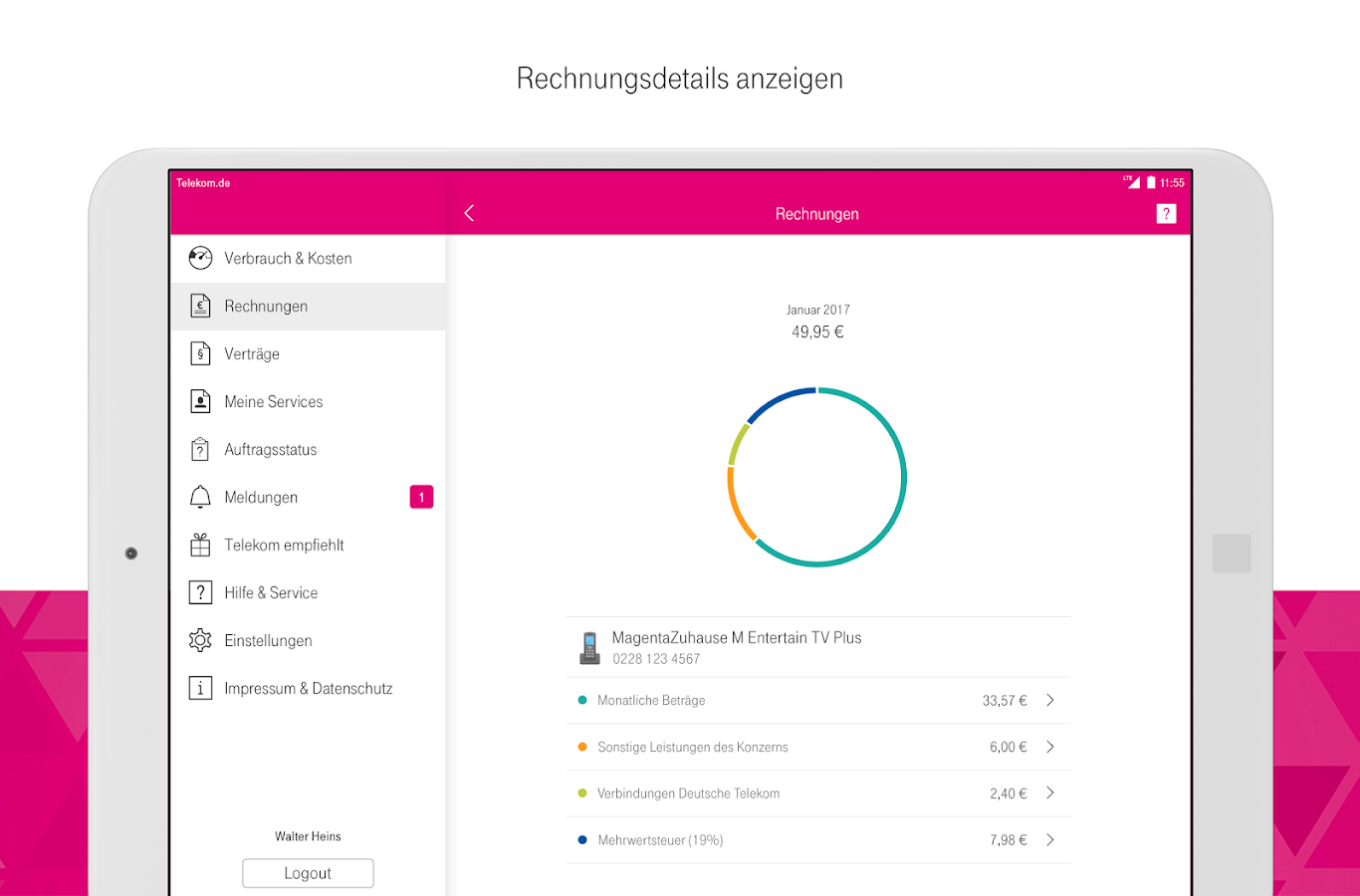 MagentaSERVICE – Screenshot