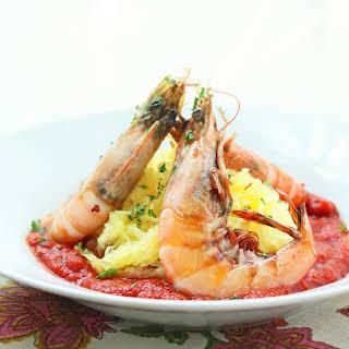 Shrimp Fra Diavolo w/ Spaghetti Squash (Paleo).