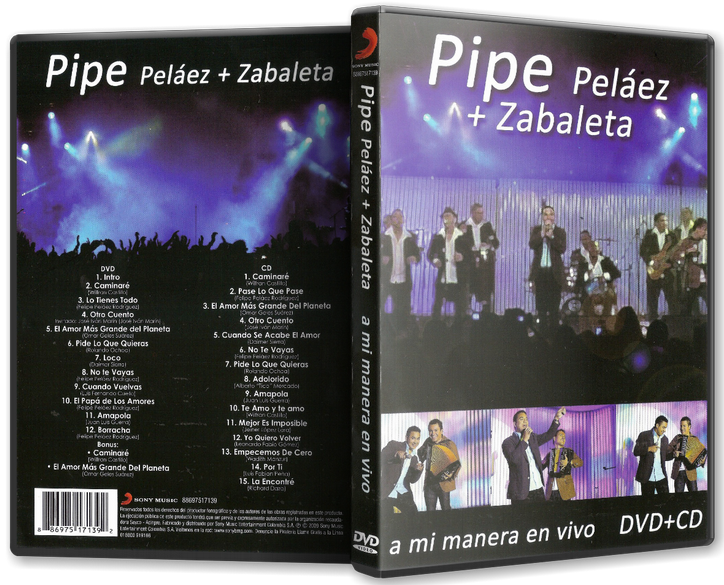 Felipe 'Pipe' Peláez & Zabaleta - A Mi Manera En Vivo (2009) [MP3 @320 Kbps]