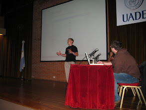 Photo: Lane Liabraaten gave most of the talk by himself