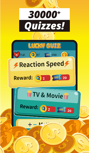 Trivia game & 30k+ quizzes, free play - Lucky Quiz 1.615 screenshots 3