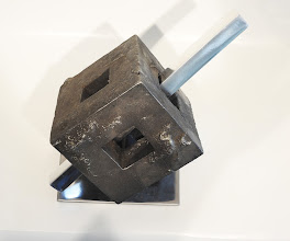Photo: PIERCED FENESTRATION -11H X 17W X 14D Lost Foam Iron Casting , Polished Aluminum & Polished Mild Steel, View 2