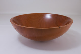 "Photo: Amy Rothberg 9 1/2"" x 3 1/2"" bowl [cherry]"