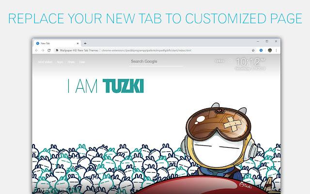 Tuzki Bunny Wallpaper HD Custom New Tab