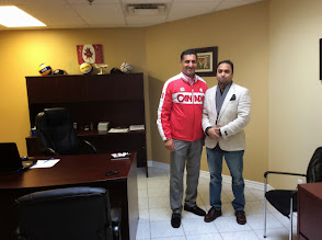 Photo: (L-R) Bal Gosal, MP & Husain F. Neemuchwala (CIEC - CEO)  http://canadaindiaeducation.com/synergy2014