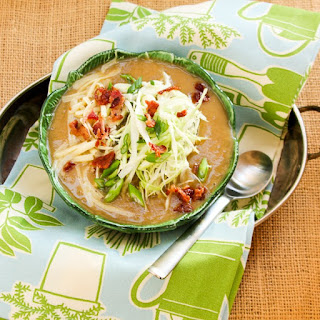 Irish Potato and Cabbage Soup with Cheese + Bacon