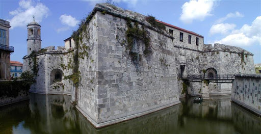 Castillo de la Real Fuerza is a fort on the west side of Havana harbor bordering Plaza de Armas.