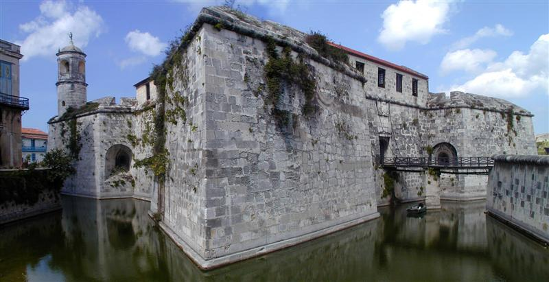 Castillo de la Real Fuerza is a fort on the west side of Havana harbor bordering Plaza de Armas.