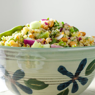 3 Bean Quinoa Salad with lime dressing.