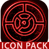 OUTLINE RED icon pack black