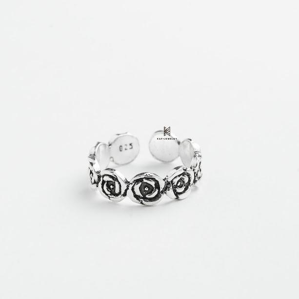 nhẫn bạc cao cấp 925 bông hoa