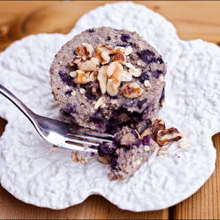 Vegan Gluten Free Blueberry Walnut Buckwheat Breakfast Bake – Made in Microwave.