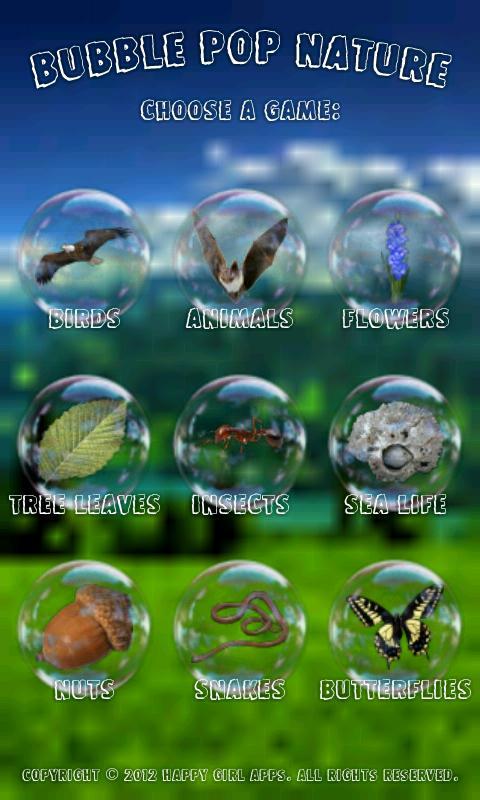 Скриншот Bubble Nature Kids Game Free