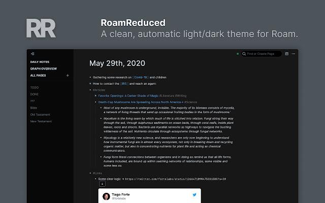 Roam Reduced