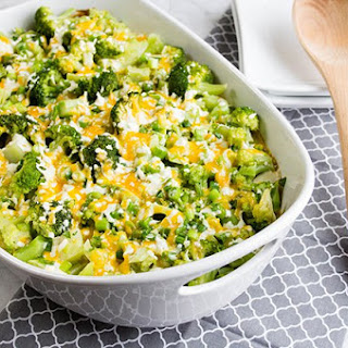 Cheesy Twice Baked Potato & Broccoli Casserole