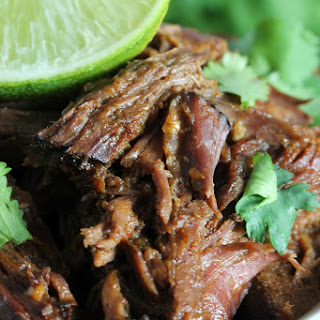 Easy Slow Cooker Chili-Lime Mexican Shredded Beef.
