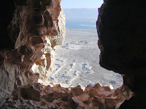 Photo: About 10,000 Roman soldiers set up eight camps around Masada and used Jewish slave labor to construct a ramp up to the top.