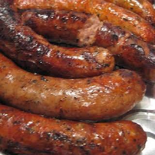Slow Cooker Sausages in Beer.