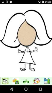 Girls Cartoon Look - náhled