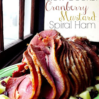 Slow Cooker Cranberry Mustard Spiral Ham